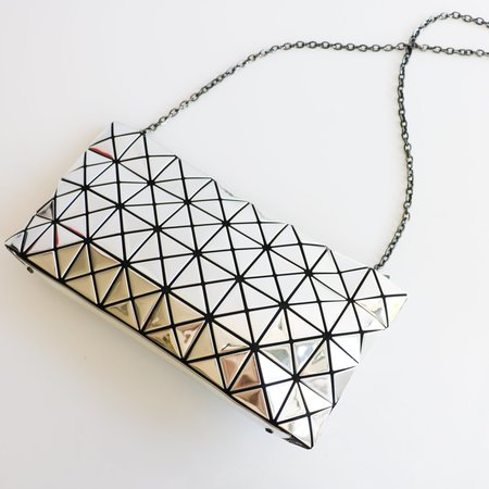 [Pre-loved]  Bao Bao Issey Miyake Prism Pouch - Silver