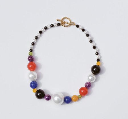 Luiny Mondrian Necklace - Brass/Silver