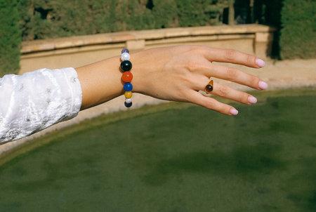 Luiny Mondrian Bracelet - Brass/Silver