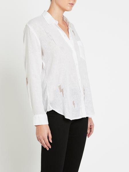 Rails Charli Shirt - White Lightening Embroidery