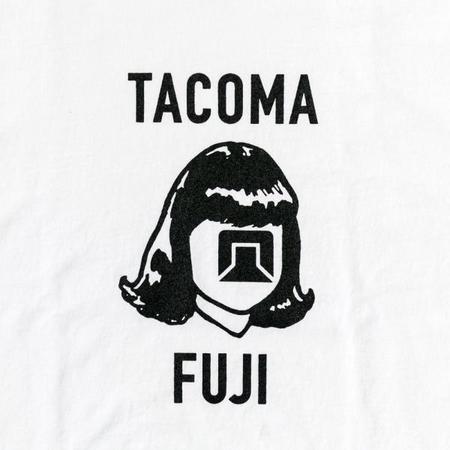 Tacoma Fuji Records Tacoma Fuji Logo Mark Long Sleeve T-Shirt - White
