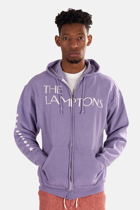 Blue&Cream Lamptons Skull Hoodie Sweater - Purple With Skull