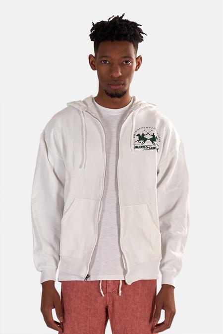 Blue&Cream Bridge Hoodie Sweater - Green/White