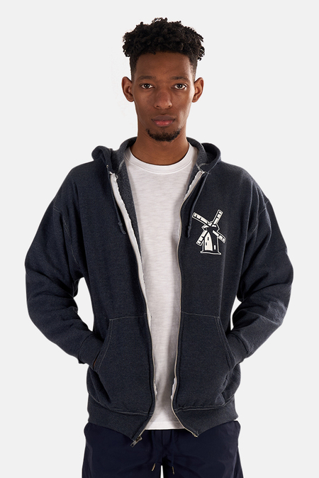 Blue&Cream Japanese Windmill Hoodie Sweater - Cobalt