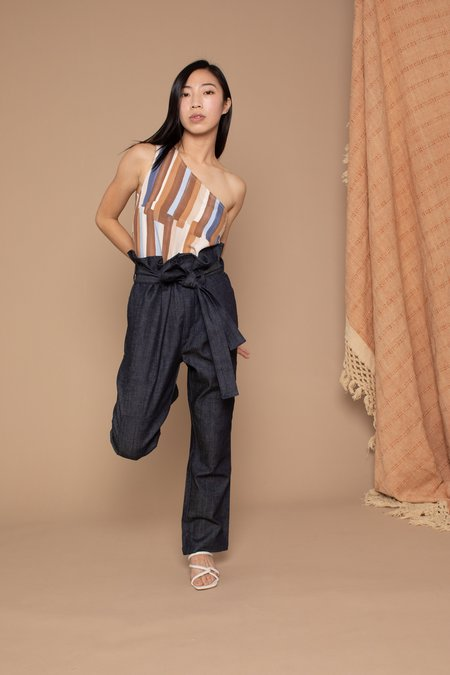 Conrado Wren Paperbag Pants - Denim