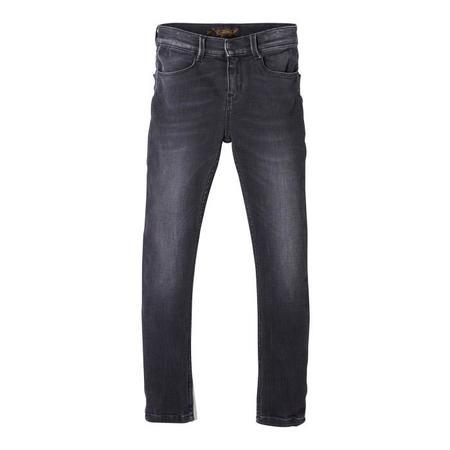 Kids Finger In The Nose Tama Pants Woven Skinny Fit Jeans - Used Black Denim