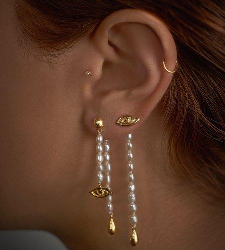 Pamela Love Crying Eye Ear Jacket - Gold Plated