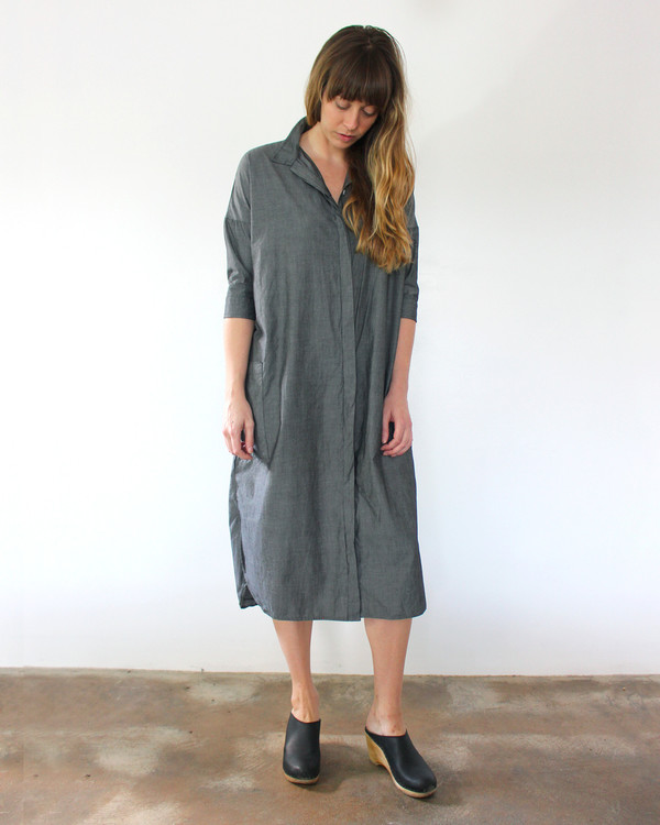 Esby DARCY SHIRT DRESS - CHARCOAL