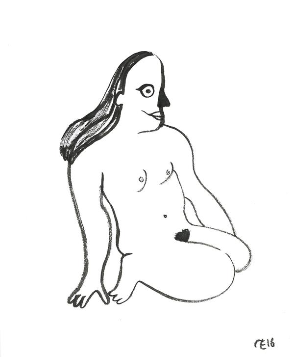 Camilla Engstrom Sitting woman