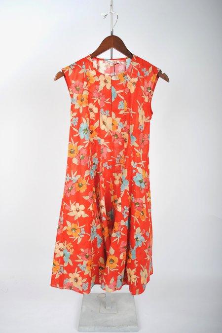 Belize Anna Dress - Red Multi
