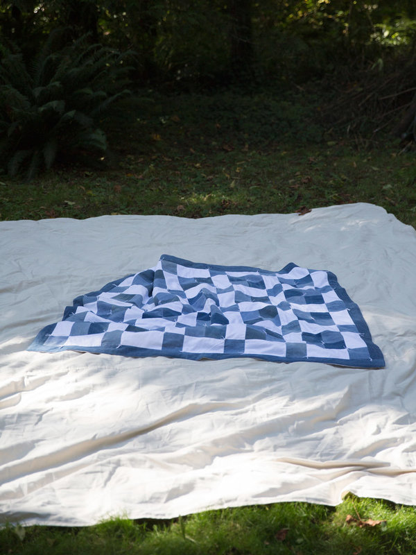 DUO NYC Denim Patch Quilt
