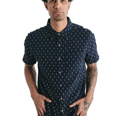 Bridge & Burn Harbor Dobby Short Sleeve - Navy