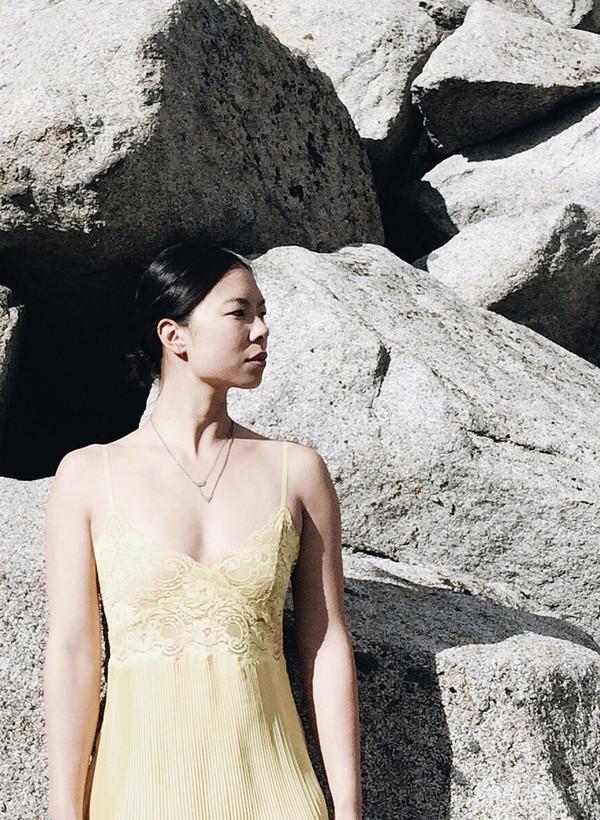 Naoko Ogawa Dual Shape Pendant Necklace
