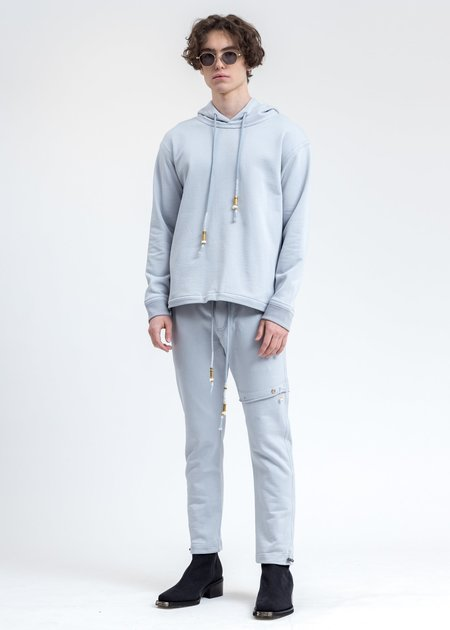 CORNERSTONE Lace Detail Hoodie - Blue
