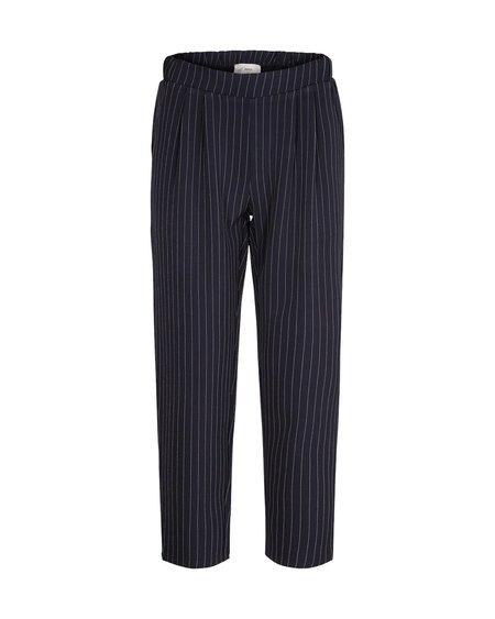 Minimum Sofja Pant - Navy Blazer Striped
