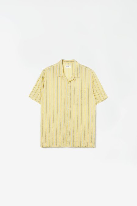 Universal Works Road shirt ranch - stripe yellow