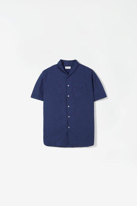 Universal Works Shawl collar shirt - blueprint