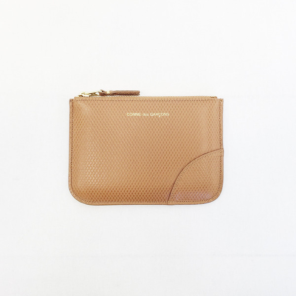 Comme des Garcons - Luxury Group Small Beige Zip-up Pouch