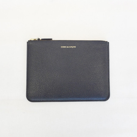 Comme des Garcons - Black / Blue Inside Zip-up Pouch