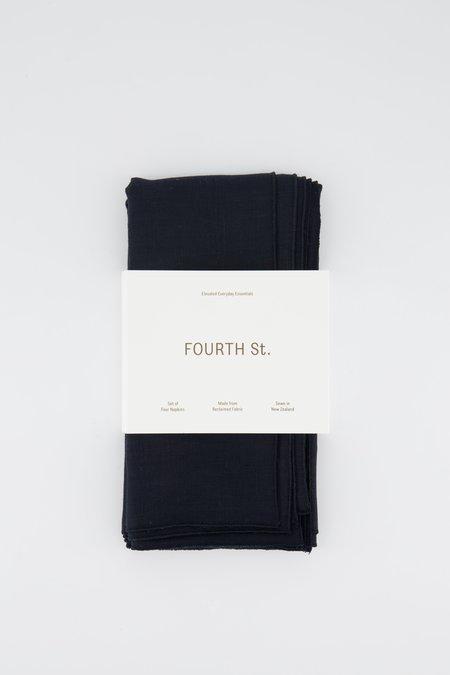 Fourth St Linen Napkin Set - Navy