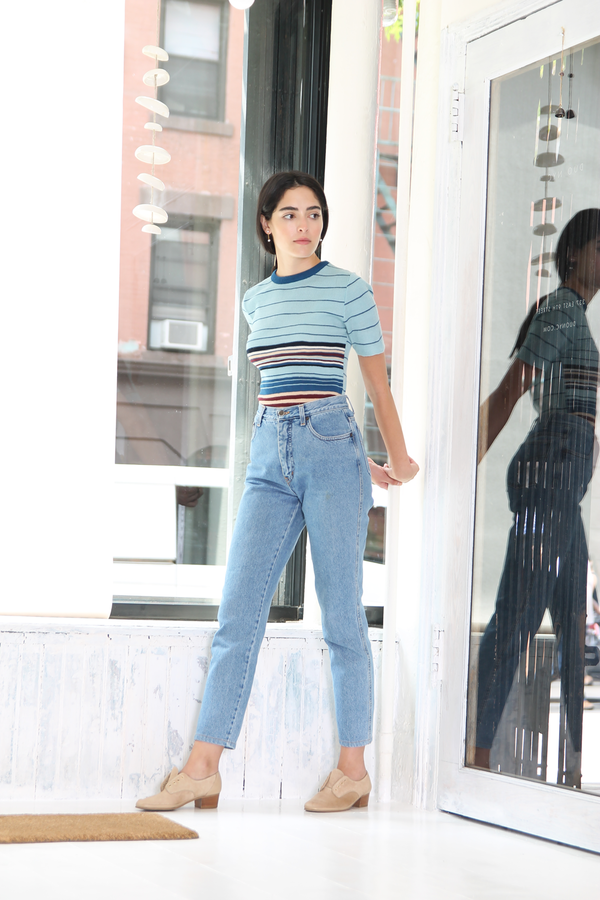 DUO NYC Vintage Stripe Sweater Tee