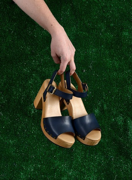 Lisa B. Platform Sandals - Baltic Blue