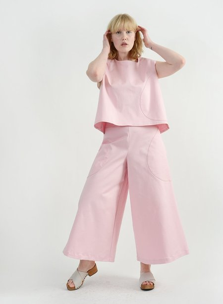 Meg Round Pocket Top - Pink