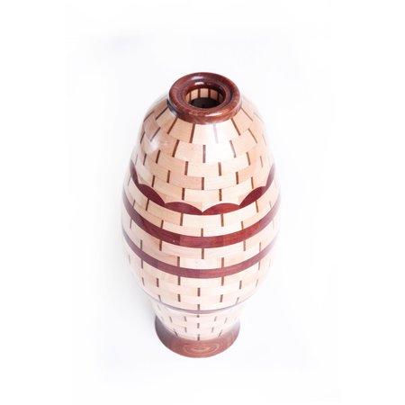 Vintage Allen Pousson Wood Vase