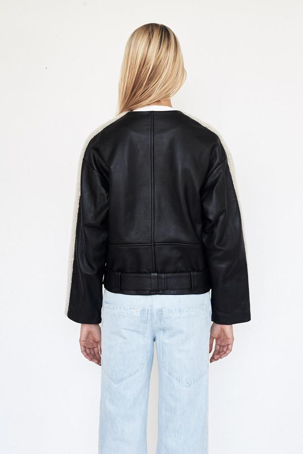 Sandy Liang Leather Rickal Jacket