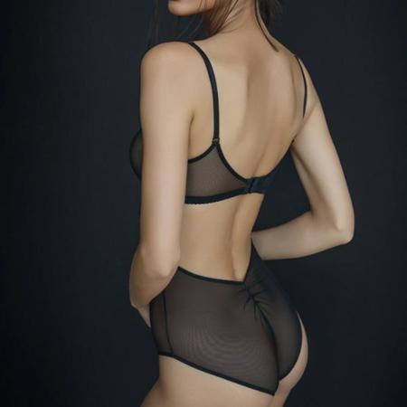 Clo Malla Underwire Mesh Bodysuit - Black