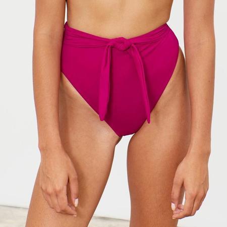 Mara Hoffman Goldie High Waisted Tie Bottom - Levante