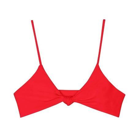 Mikoh Kaloko Knot Bikini Top - Fiery Red