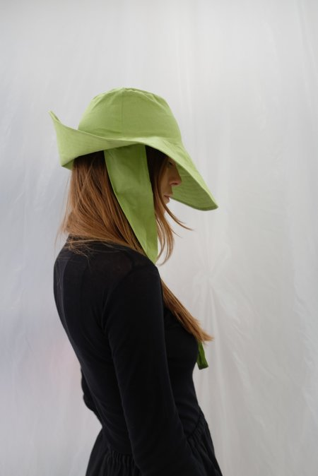 Beklina Tie Hat - Lime