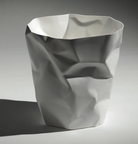 Essey Crumpled Waste Basket - White