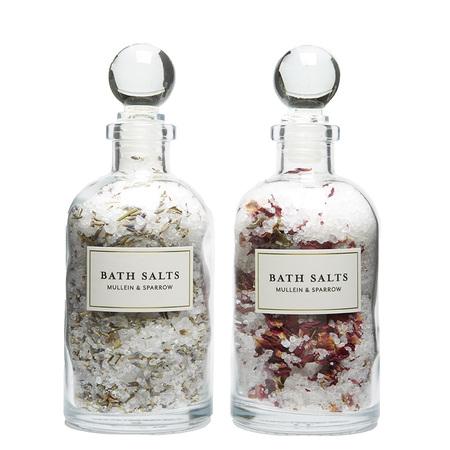 Mullein & Sparrow Rose & Lavender Bath Salt Set