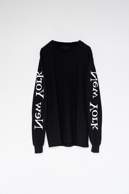 Unisex Assembly New York Cotton L/S New York Logo T-Shirt - Black