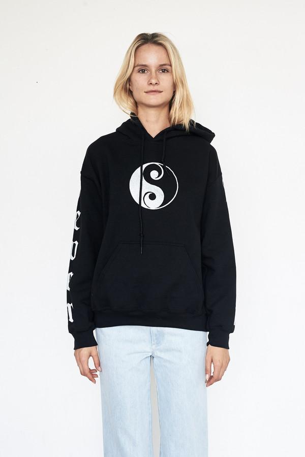 Lyz Olko Cotton Never Again Hooded Sweatshirt