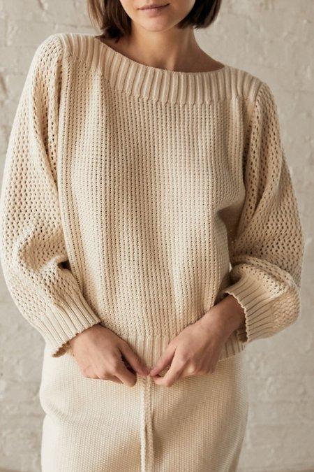 Wol Hide Boatneck Pullover - Natural