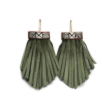 Hechizo Tassel Cage Earring - Cactus Green