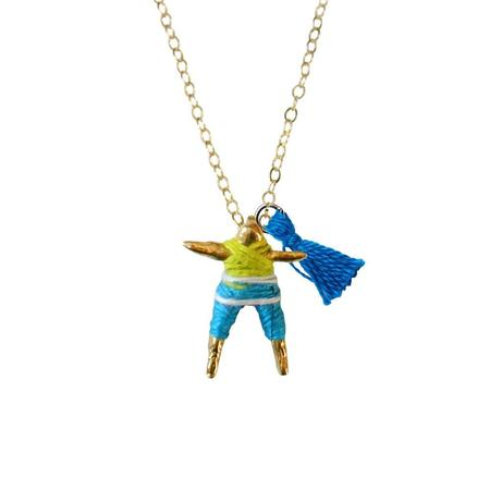 Hechizo Worry Doll Necklace - Blue