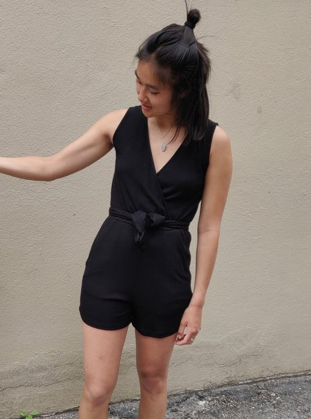 EVE GRAVEL WILDCAT JUMPSUIT - BLACK
