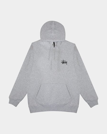 Stussy Basic Hoodie - Ash Heather