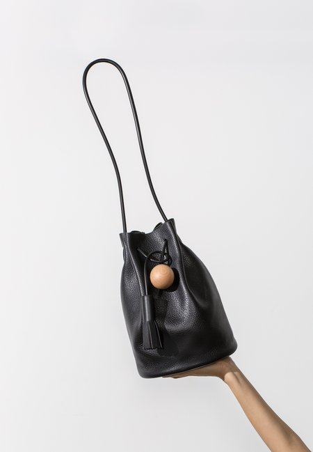 Building Block Bucket Bag - Pebbled Black