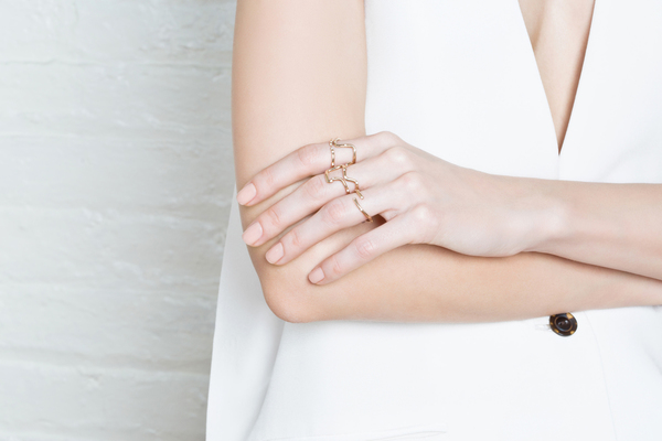 Shahla Karimi 14K Gold Subway Fine Ring - Inwood to WTC