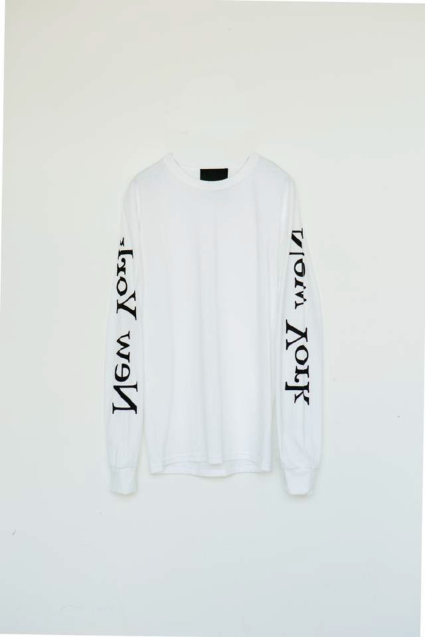 Unisex Assembly New York Cotton L/S New York Logo T-Shirt - White