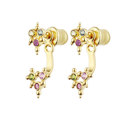Marie Laure Chamore Earrings - Goldfill Multicolor