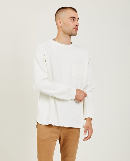 Remi Relief 20/2 Long Sleeve Jersey Tee - Off White