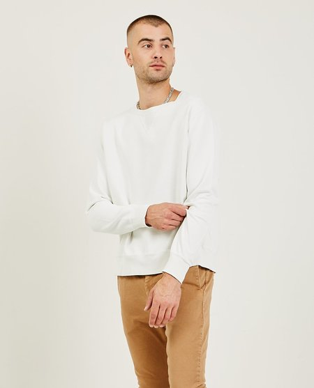Remi Relief Special Finish Fleece Crew - Off White
