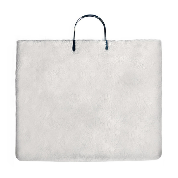 Slow and Steady Wins the Race Metal Clip Handle Bag in White Shearling