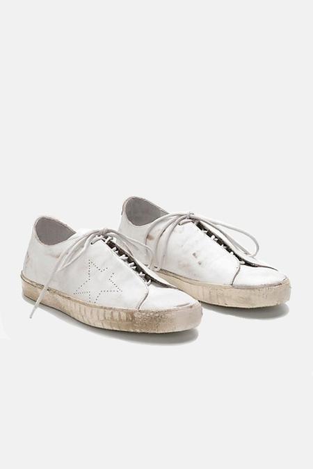 Golden Goose Superstar Low Top Skate Sneaker Shoes - White